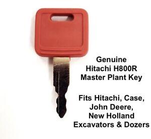 Hitachi H800 Genuine Master Plant Key Fits Case, New Holland, John Deere, Fiat