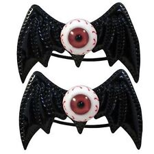 Kreepsville 666 Batty Eye Bow Bands Black Hair Tie Punk Goth Halloween Horror