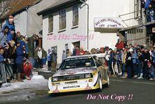 Hannu Mikkola Audi Quattro Sport E2 Monte Carlo Rally 1986 Photograph 1
