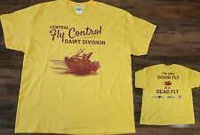 """Central Fly Control Dairy Division T-Shirt """"Only Good Fly Is A Dead Fly"""" Men XL"""