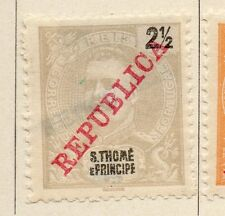St Thomas Prince Islands 1911 Issue Fine Mint Hinged 2.5r. Republica Optd 068941