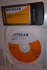 New listing Netgear Wg511 v2 - 54 Mbps Wireless Network WiFi Pc Pcmcia Card with driver Cd