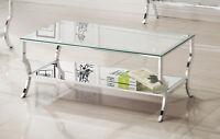 Coaster Modern Rectangular Coffee Table With Mirrored Shelf Chrome 720338