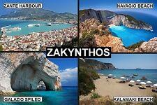 SOUVENIR FRIDGE MAGNET of ZAKYNTHOS ZANTE GREECE