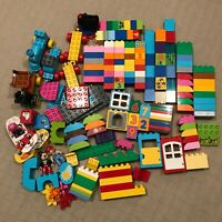 Lego Duplo Lot 188 Pieces Bricks Vehicles Plates Specialty Blocks People