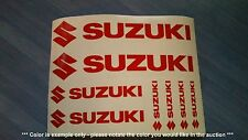Suzuki Emblems / Stickers / Decals assorted - 8 total, multiple colors