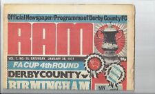 Derby County Teams C-E Football FA Cup Fixture Programmes