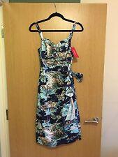 Women's Retrospec'd Blue Riviera Novelty Print Sarong Dress Vintage Size 8