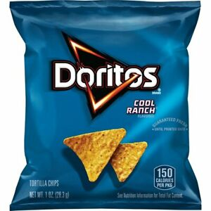 Doritos Cool Ranch Flavored Corn Tortilla Chips, 1 Oz Bags (Value Pack of 40)