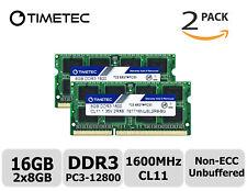 Timetec 2x8GB DDR3 1600MHz PC3-12800 Non-ECC 1.35V 2Rx8 SODIMM Laptop Memory RAM