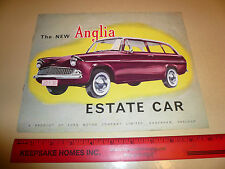 English Ford Anglia Estate Car Sales Brochure -- Vintage -- 008009