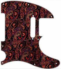 Telecaster Pickguard Graphic Custom fit Fender 8 hole Tele Guitar Tie 5