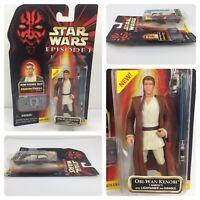 1998 Star Wars Episode 1 Obi Wan Kenobi Naboo Commtech Chip Action Figure New