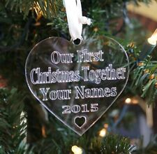 Personalised Christmas Tree Decoration Couples First Christmas Tree Bauble