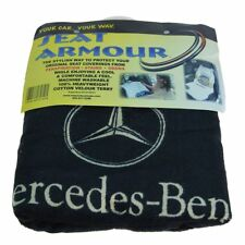 OEM Seat Towel Cover Black Terry Cloth Seat Armour w/ Logo for Mercedes Benz New