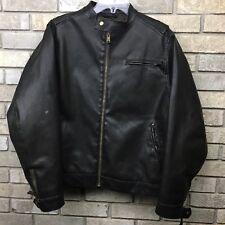 The Original Arizona Leather Jacket Mens Medium Cafe Motorcycle Vtg Line QUALITY