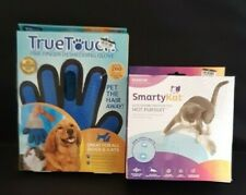 SmartyKat Electronic Cat Toy And True Touch Deshedding Glove, New, #S2