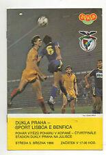 Orig.PRG    EC 2   1985/86   Dukla Prag - Benfica Lissabon  1/4 FINALE !  SELTEN
