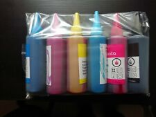 6 CISS Ink Refill Bottles