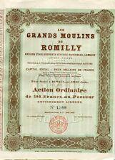 Dépt 10 - Romilly sur Seine - Secteur Minoterie Grands Moulins de Romilly - 1921