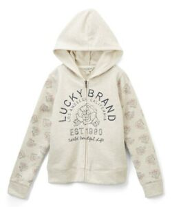 Lucky Brand Girls Long Sleeve Zip Up Hoody