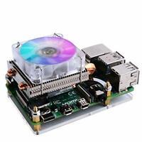 GeeekPi Raspberry Pi Low-profile CPU Cooler, Raspberry Pi Horizontal ICE Tower