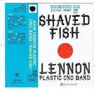 LENNON PLASTIC ONO BAND K7 CASSETTE Audio SHAVED FISH -PATHE MARCONI 2C242-05987