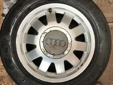 "GENUINE OEM AUDI A4 B5 8D 15"" SPARE ALLOY WHEEL & TYRE TDI 8D0601025M"