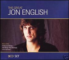 JON ENGLISH - 3 CD BOXED SET ~ HOLLYWOOD SEVEN~WINE DARK SEA~ALL A GAME *NEW*