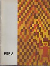 Catalog PRE-COLUMBIAN COLONIAL PERU ART Emmerich Gallery 1969 Exhibition