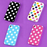 Wholesale Lot Back Skin Case Cover Polka Dots Protector For Apple i-phone 4 4S