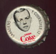 1964 65 COCA-COLA COKE BOTTLE CAP W/CORK YVON COURNOYER RC YR MONTREAL CANADIENS