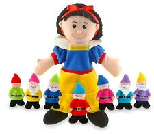 Fiesta Crafts Snow White & 7 Dwarfs Hand & Finger Puppets Kids Lovely Gift Set