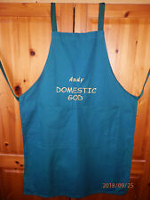 ANDY DOMESTIC GOD - NOVELTY PERSONALISED APRON (BBQ,CHEF,COOK,KITCHEN,FUNNY GIFT