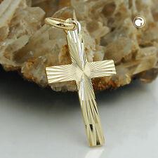 """ECHT GOLD Anhänger """"Jesuskreuz""""  23,00 x 13,00 mm   375 Gold 9 Kt. gestempelt"""