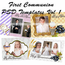 Photoshop templates for First Communion Frames  Vol 1