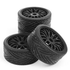 4PCS 17mm Hex Hub Wheel Rim & Tires HSP 1:8 Off-Road RC Car Buggy Tyre Black
