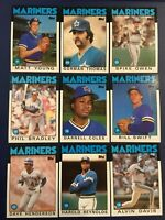 1986 Topps SEATTLE MARINERS Complete Team Set 30 REYNOLDS, SWIFT ROOKIE Look
