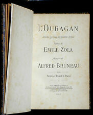 Partition / Score Bruneau Zola L'Ouragan piano & chant Choudens 1901 TBE