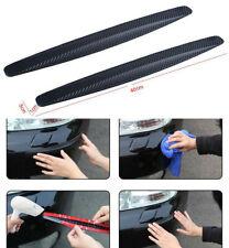 2x Accessories Carbon Fiber Car Bumper Corner Plate 4D Rubber Sticker Protector