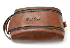 bf2a87e0cc Personalised Mens Wash Bag Toiletry Travel Accessories Fathers Day Gift  Dopp Kit