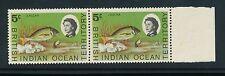 BIOT 1968 LASCAR FISH 5c POSITIONAL VARIETY BUBBLE OVER FIN...MINT UM PAIR...L2