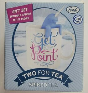 Fred TWO FOR TEA Infuser and Mug Gift Set, Spiked Tea Narwhal
