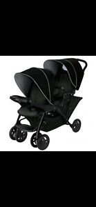 Graco Tandem Stadium Baby Double Duo/Black Grey Front Hood and Basket Missing