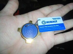 Kobalt Titanium 4-way Screwdriver Keychain New #0501854