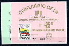 Ecuador Block 66/67 postfrisch / UPU .....................................2/2139