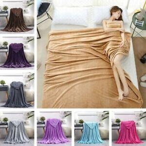 Soft Warm Plush Fleece Blanket Throw Flannel Blanket Throw Rugs Sofa Bedding New