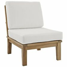 Marina Outdoor Patio Teak Middle Sofa Category Outdoor Color Natural White Chair