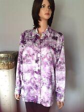 Chico's Shirt Tunic Women M Designer Fashion Purple Ombre Chic
