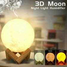 880ML Moon Lamp Light Air Humidifier Diffuser Aroma Night Cool Mist Purifier A